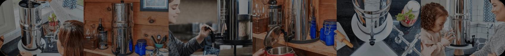 Filtres à eau et purificateur d'eau Berkey pour la maison