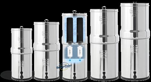 Gamme de filtres à eau en inox Berkey par Berkey France Millenium