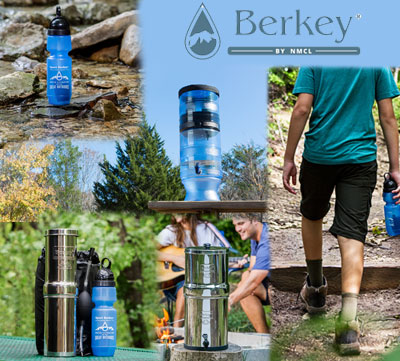 Gourde filtrante Sport Berkey, Go Berkey et Berkey Light par Berkey France Millenium